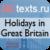 Holidays in Great Britain — английские топики праздники